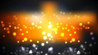 Abstract Orange and Black Blurred Bokeh Background