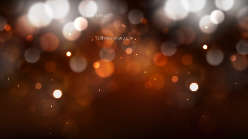 Abstract Orange and Black Blurred Lights Background Vector Graphic