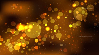 Abstract Orange and Black Defocused Lights Background Graphic