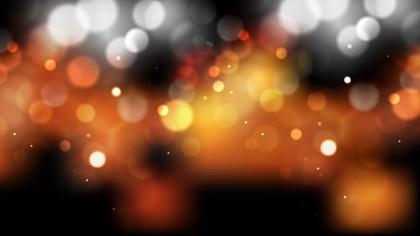 Orange and Black Bokeh Lights Background Vector