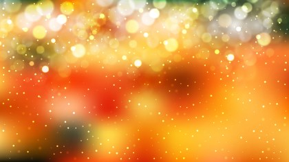Abstract Orange and Green Defocused Background Vector Image