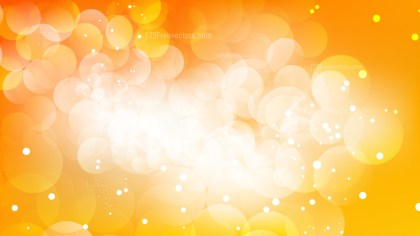 Orange and White Blurry Lights Background Vector Image