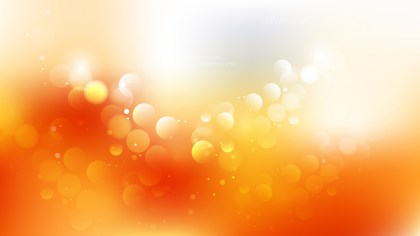 Orange and White Bokeh Lights Background Vector