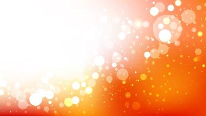 Orange and White Defocused Background Vector Art
