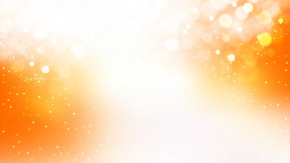 Abstract Orange and White Blurred Lights Background