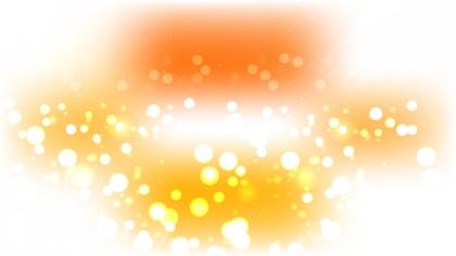 Orange and White Blurred Lights Background