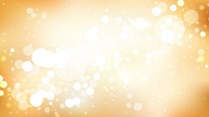 Orange and White Blurred Bokeh Background Vector Image