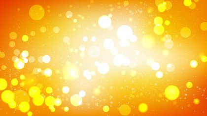 Orange and White Bokeh Lights Background Graphic