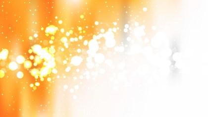 Orange and White Lights Background Image