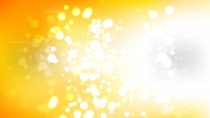 Abstract Orange and White Blurred Bokeh Background