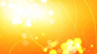 Abstract Orange and White Bokeh Lights Background Graphic