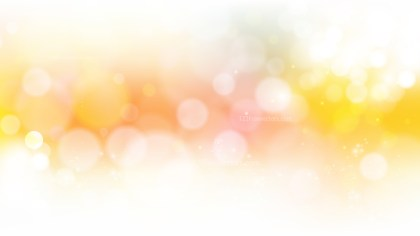 Abstract Orange and White Bokeh Defocused Lights Background