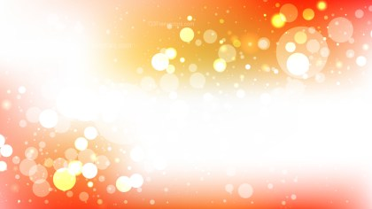 Abstract Orange and White Blurry Lights Background Illustration