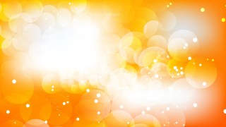Abstract Orange and White Bokeh Background Design