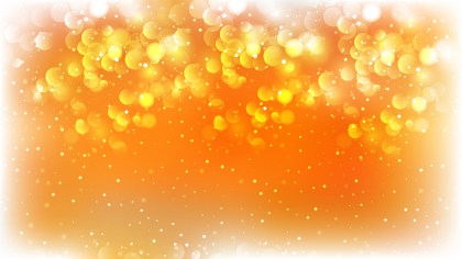 Orange and White Blurry Lights Background Illustration
