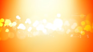 Abstract Orange and White Bokeh Lights Background