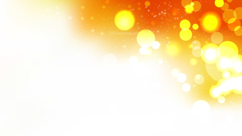 Abstract Orange and White Blurred Lights Background Graphic