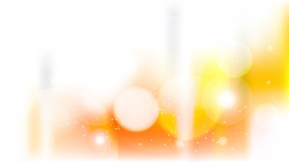 Orange and White Bokeh Background