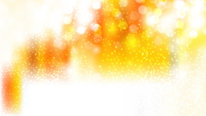 Orange and White Bokeh Lights Background