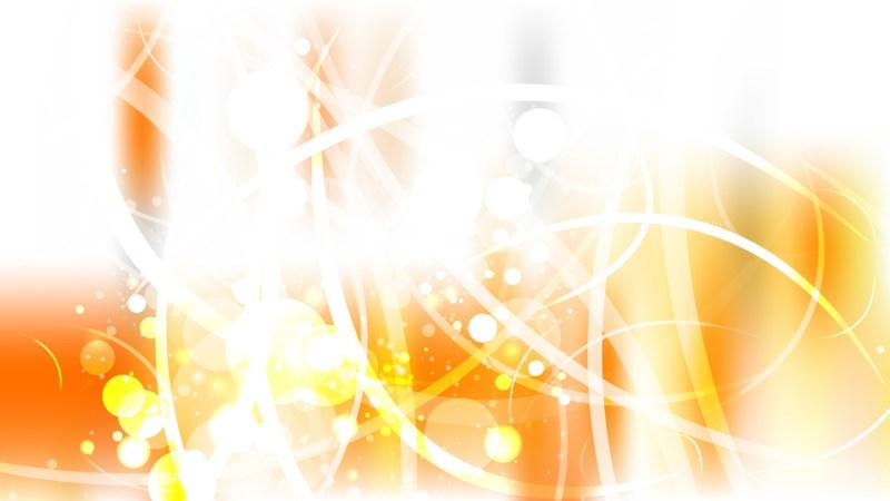 Orange and White Defocused Background