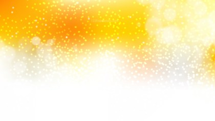 Orange and White Blurred Bokeh Background Vector Art