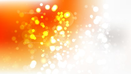 Orange and White Bokeh Background Design
