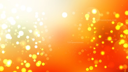 Orange and White Bokeh Defocused Lights Background