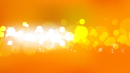 Orange and White Bokeh Background Illustrator