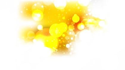 Orange and White Lights Background Vector Illustration