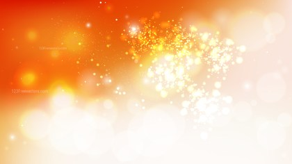 Abstract Orange and White Bokeh Background