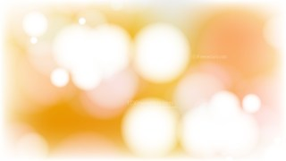 Orange and White Bokeh Defocused Lights Background Illustration