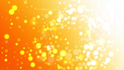 Orange and White Bokeh Lights Background Design
