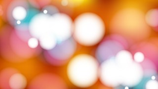 Abstract Orange and White Bokeh Defocused Lights Background Illustration