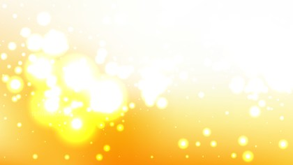 Abstract Orange and White Blurry Lights Background Vector Illustration