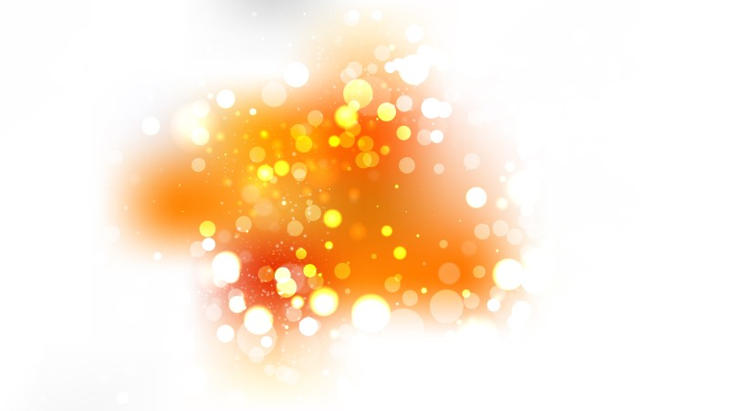 Orange and White Blurred Lights Background