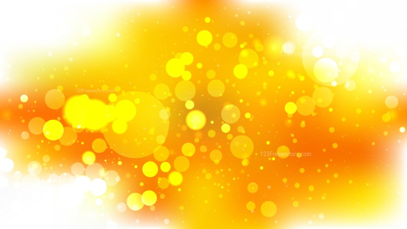 Orange and White Blurred Bokeh Background Image