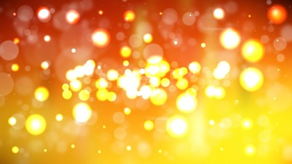 Abstract Orange and Yellow Blurred Lights Background Vector Graphic