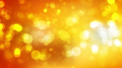 Abstract Orange and Yellow Bokeh Defocused Lights Background Vector Art