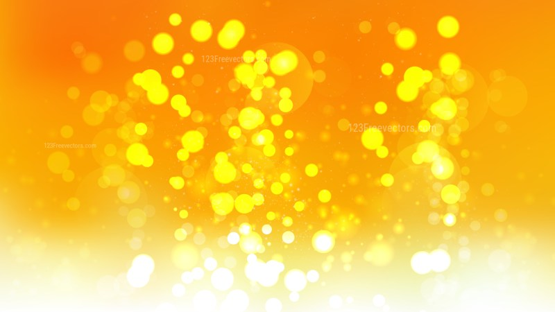 Abstract Orange and Yellow Blurry Lights Background Illustration