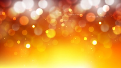 Abstract Orange and Yellow Blur Lights Background Vector