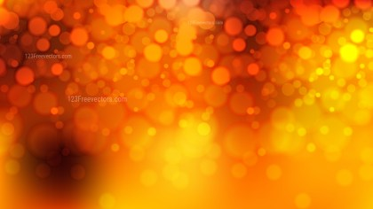 Abstract Orange and Yellow Bokeh Background