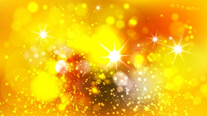 Orange and Yellow Bokeh Lights Background