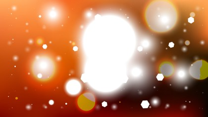 Abstract Orange Black and White Lights Background