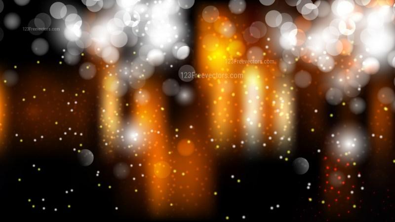 Orange Black and White Lights Background Illustration
