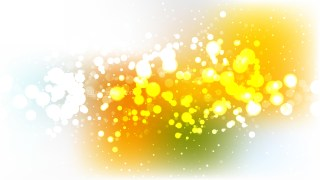 Abstract Orange White and Green Bokeh Lights Background Vector Graphic