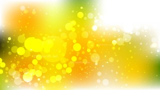 Abstract Orange White and Green Blurred Lights Background