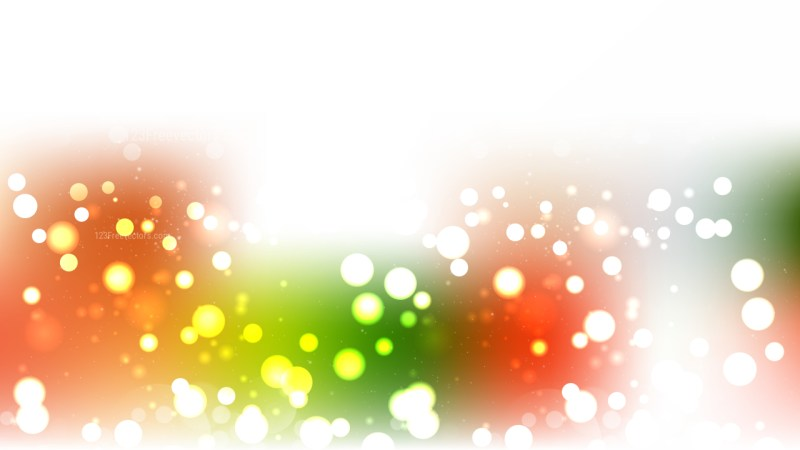 Abstract Orange White and Green Blurred Lights Background Illustrator