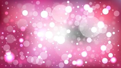 Pink Blurred Bokeh Background Vector Illustration