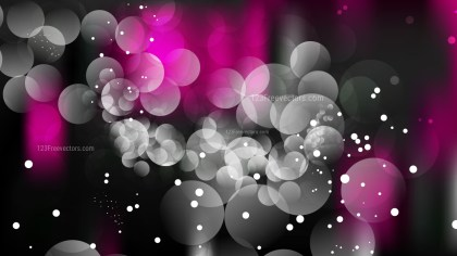 Abstract Pink and Black Defocused Lights Background Vector Graphic