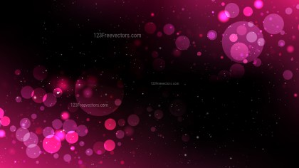 Pink and Black Bokeh Defocused Lights Background